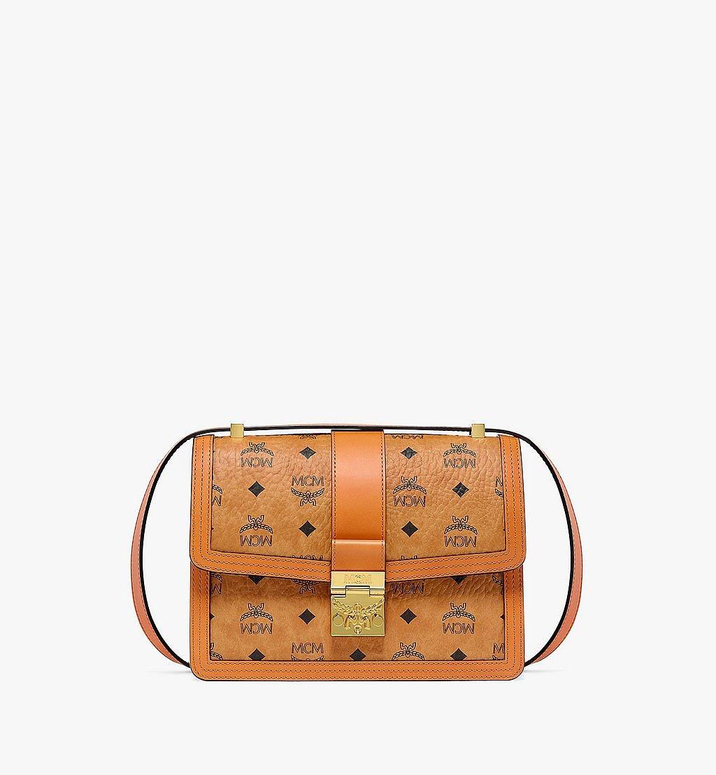 MCM Tracy Shoulder Bag in Visetos Cognac MWSBSXT02CO001 Alternate View 1