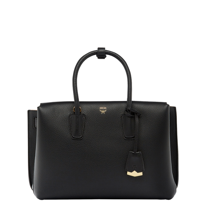 MCM Milla Tote in Grained Leather MWT6AMA04BK001 AlternateView