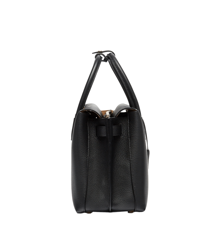 MCM Milla Tote in Grained Leather MWT6AMA04BK001 AlternateView3