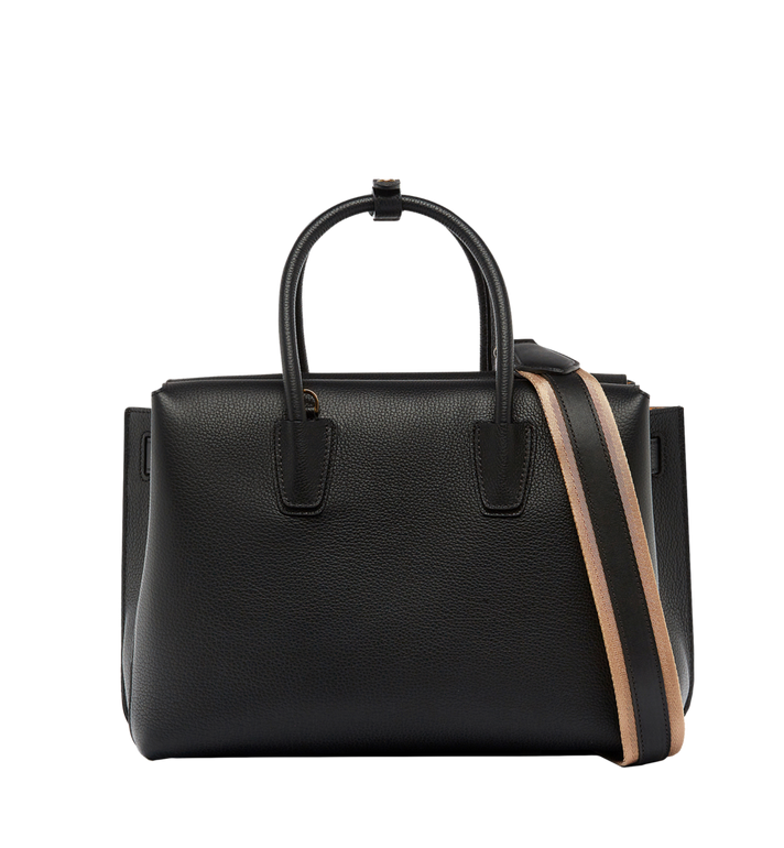MCM Milla Tote in Grained Leather MWT6AMA04BK001 AlternateView4