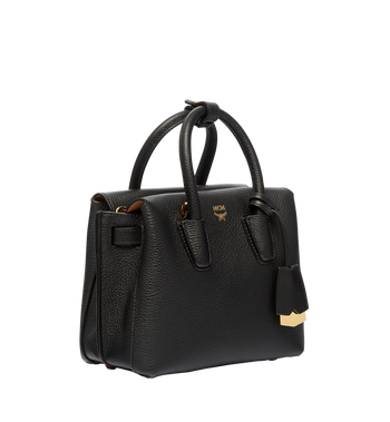 MCM Milla Tote in Grained Leather MWT6AMA05BK001 AlternateView2