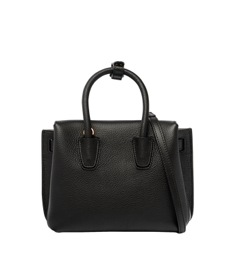 MCM Milla Tote in Grained Leather MWT6AMA05BK001 AlternateView4