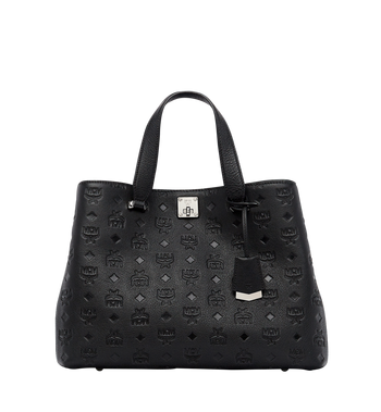 MCM Essential Tote in Monogram Leather MWT7ASE43BK001 AlternateView