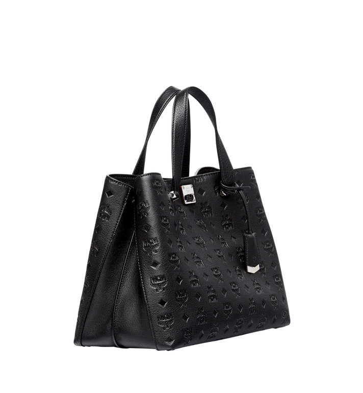 MCM Essential Tote in Monogram Leather Black MWT7ASE43BK001 Alternate View 2