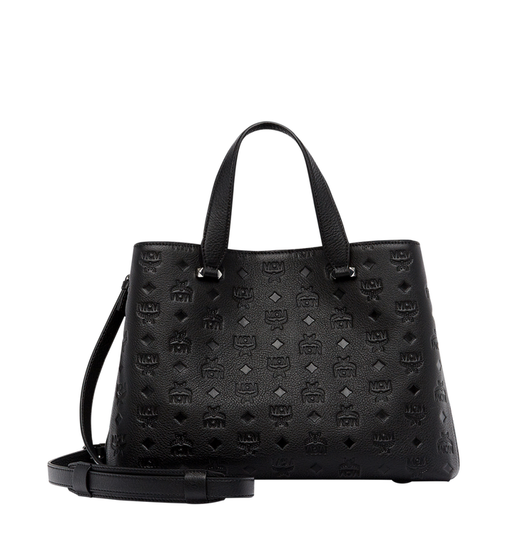 MCM Essential Tote in Monogram Leather Black MWT7ASE43BK001 Alternate View 4