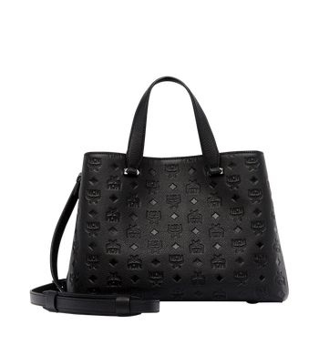 MCM Essential Tote in Monogram Leather MWT7ASE43BK001 AlternateView4