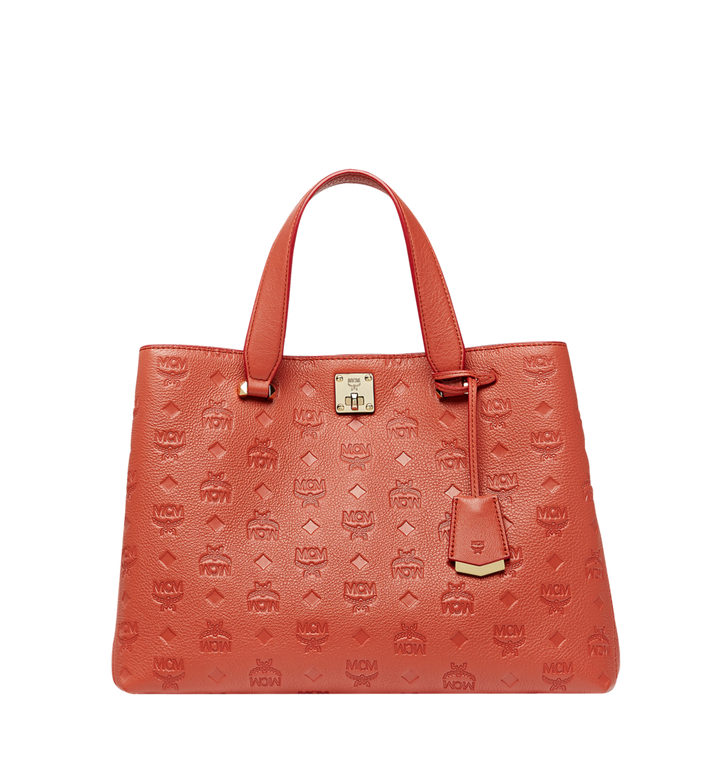 MCM Essential Tote in Monogram Leather MWT8ASE43PW001 AlternateView