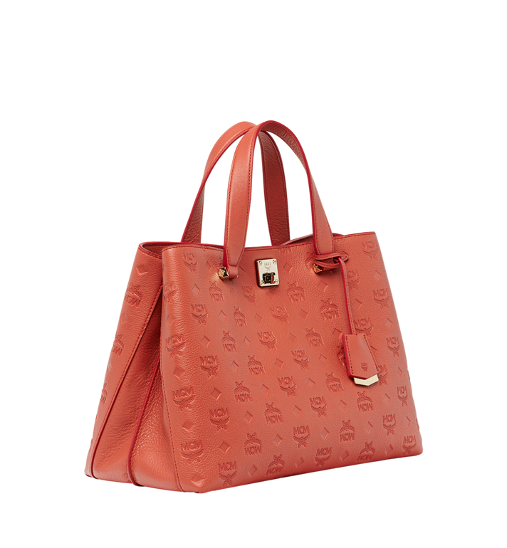 MCM Essential Tote in Monogram Leather MWT8ASE43PW001 AlternateView2