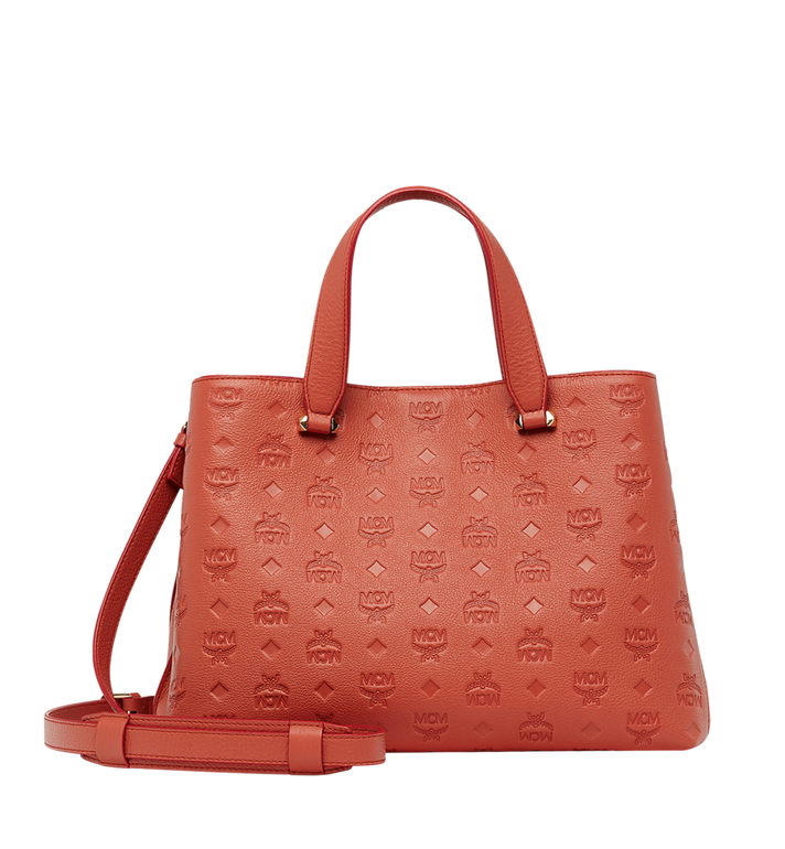 MCM Essential Tote in Monogram Leather MWT8ASE43PW001 AlternateView4