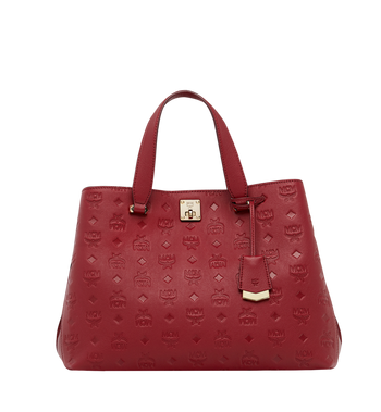 MCM Essential Tote in Monogram Leather MWT8ASE43RY001 AlternateView