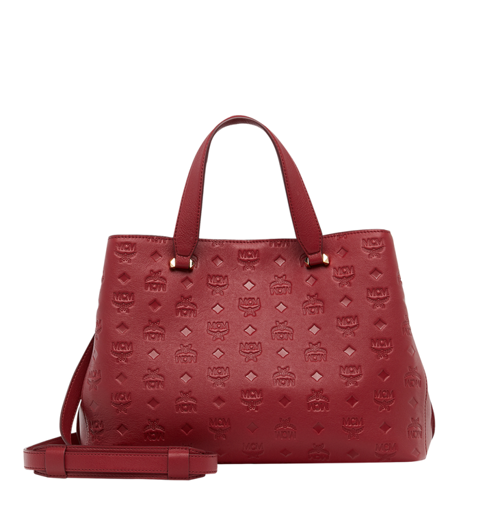 MCM Essential Tote in Monogram Leather MWT8ASE43RY001 AlternateView4