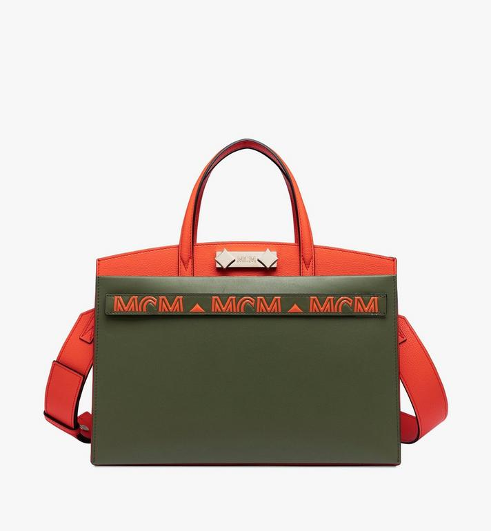 MCM Milano Tote Bag in Calfskin Leather Alternate View