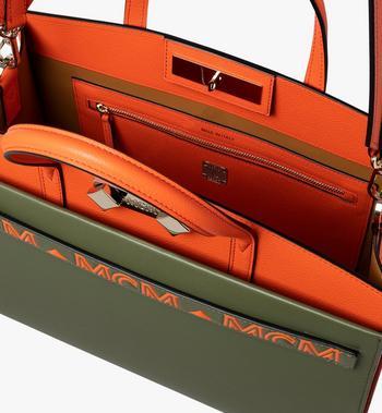 MCM Milano Tote Bag in Calfskin Leather Alternate View 4