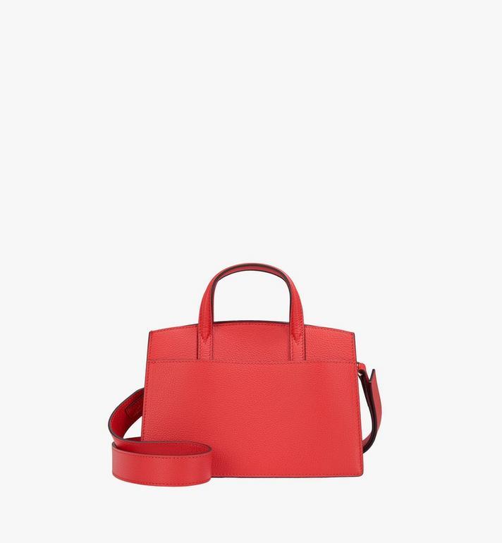 MCM Milano Tote Bag in Calfskin Leather Red MWT9ADA12R3001 Alternate View 4