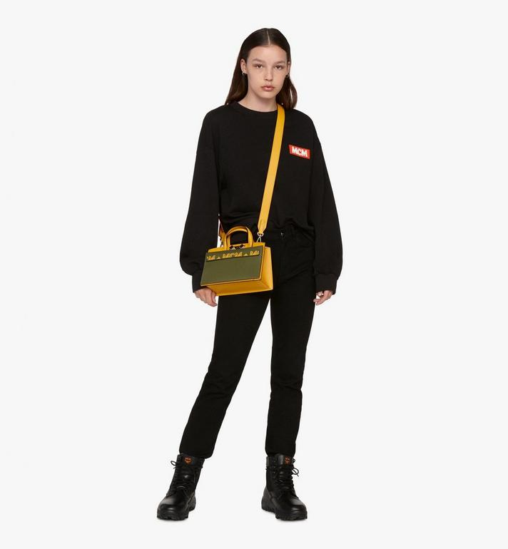 MCM Milano Tote Bag in Calfskin Leather Alternate View 5