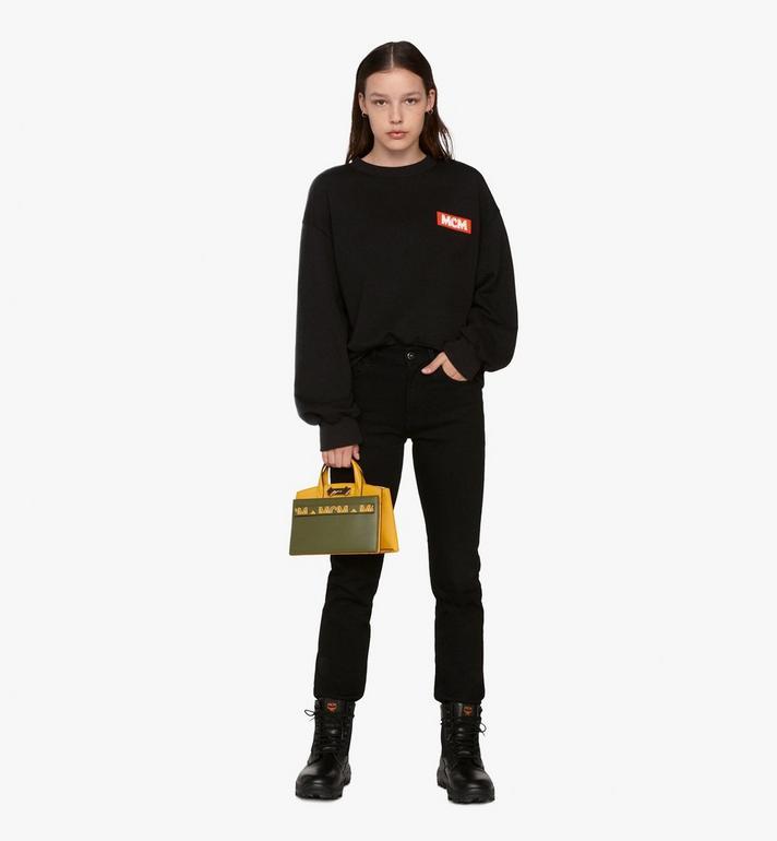 MCM Milano Tote Bag in Calfskin Leather Alternate View 6