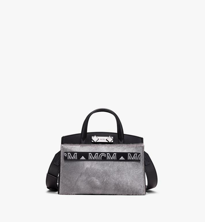 MCM Milano Mini Tote Bag in Metallic Haircalf Alternate View