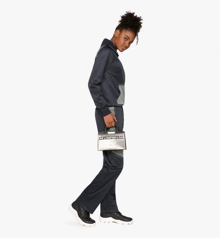 MCM Milano Mini Tote Bag in Metallic Haircalf Silver MWT9ADA14BI001 Alternate View 6