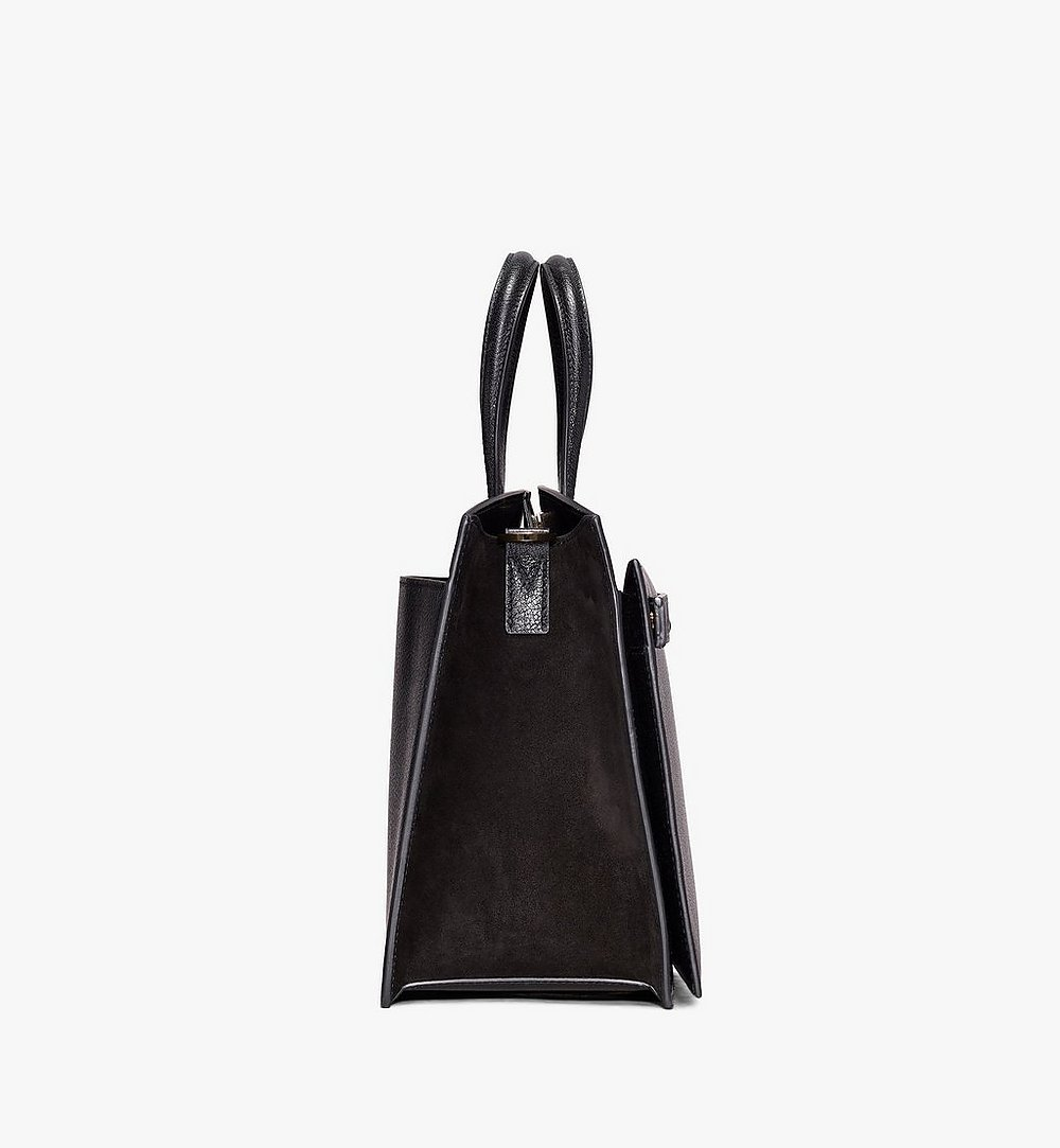 MCM Milano Tote Bag in Goatskin Leather Black MWT9ADA15BK001 Alternate View 1