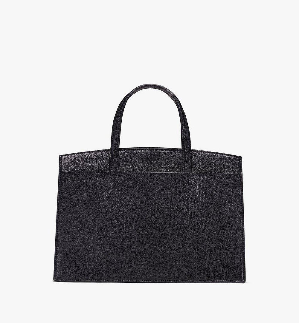 MCM Milano Tote Bag in Goatskin Leather Black MWT9ADA15BK001 Alternate View 2