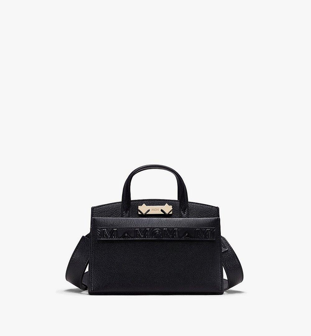 MCM Milano Tote Bag in Goatskin Leather Black MWT9ADA16BK001 Alternate View 1