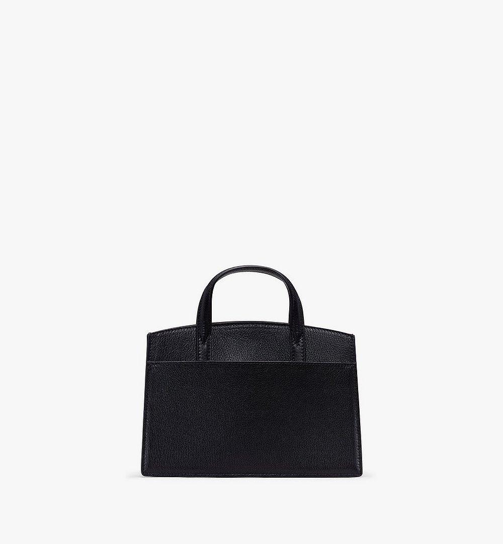 MCM Milano Tote Bag in Goatskin Leather Black MWT9ADA16BK001 Alternate View 2