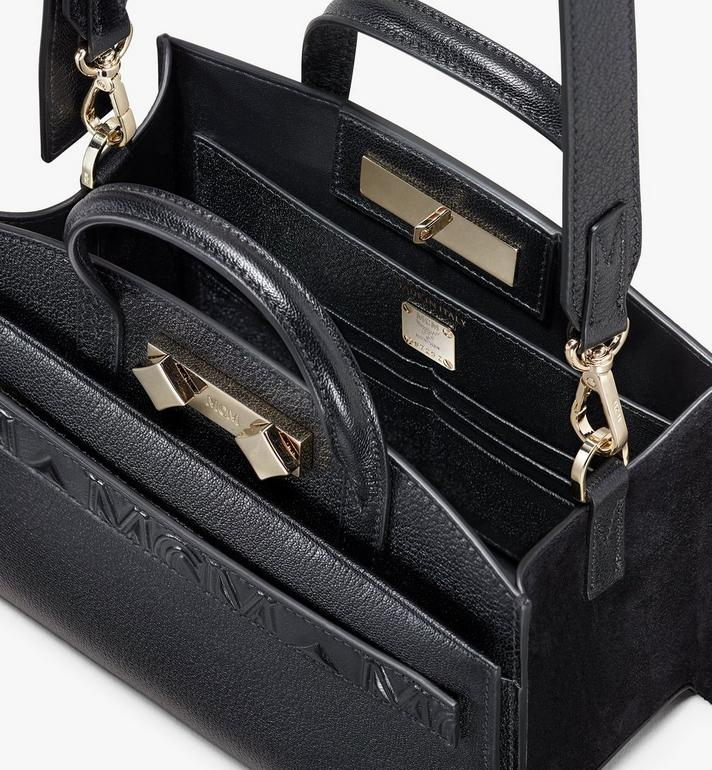 MCM 밀라노 미니 토트 Black MWT9ADA16BK001 Alternate View 4