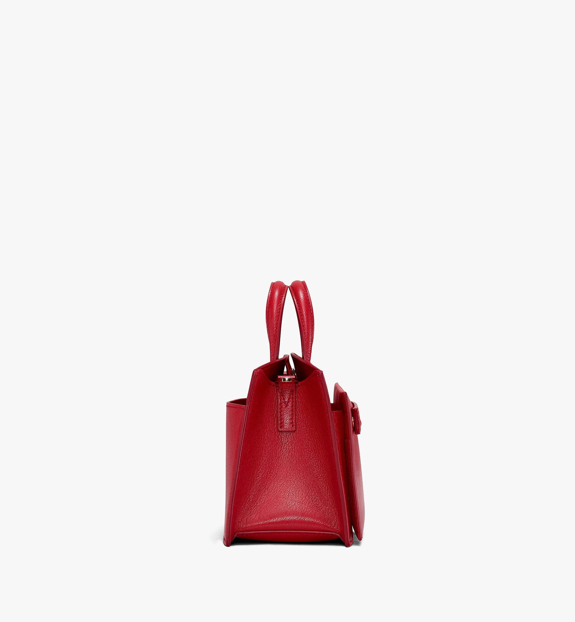 MCM Milano Tote Bag in Patent Goatskin Leather Red MWT9ADA18RU001 Alternate View 2