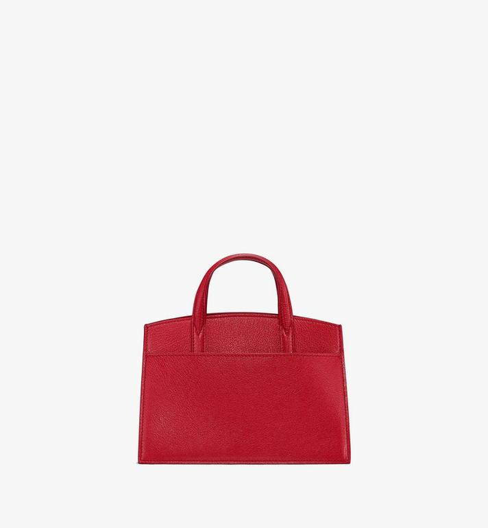 MCM Milano Tote Bag in Patent Goatskin Leather Red MWT9ADA18RU001 Alternate View 3