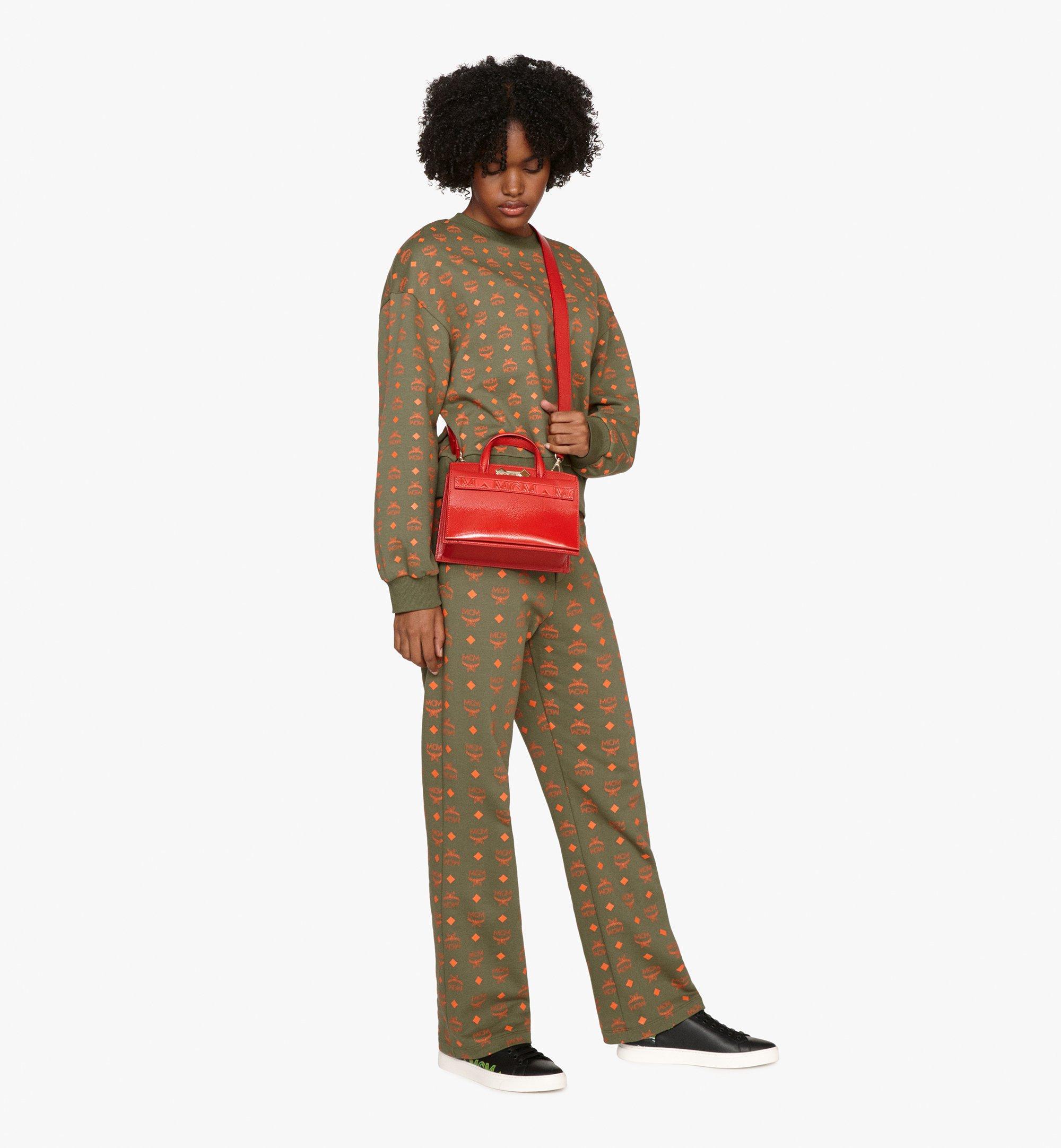 MCM Milano Tote Bag in Patent Goatskin Leather Red MWT9ADA18RU001 Alternate View 5