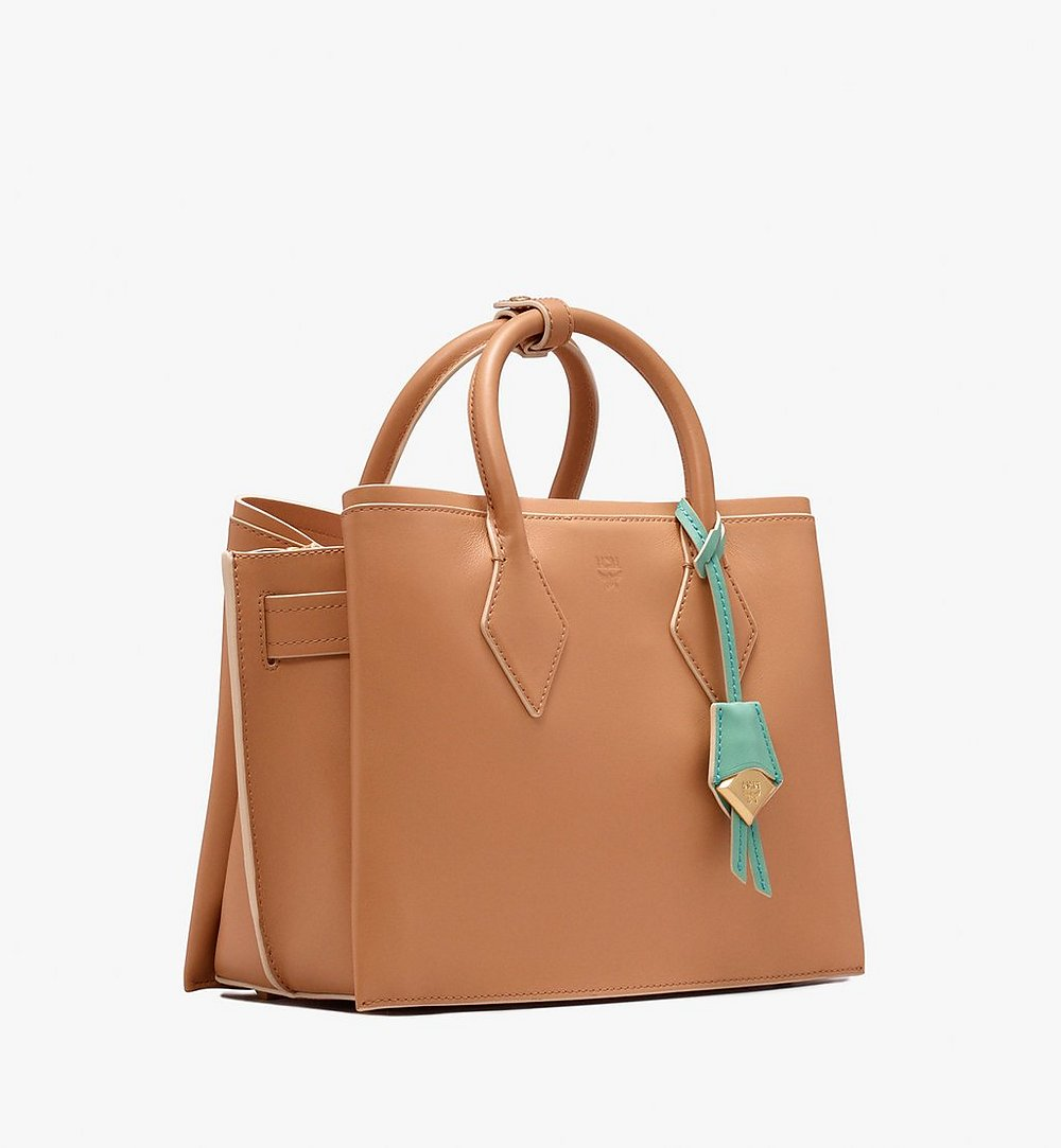 MCM Neo Milla Tote in Spanish Leather Beige MWT9AMA76BC001 Alternate View 1