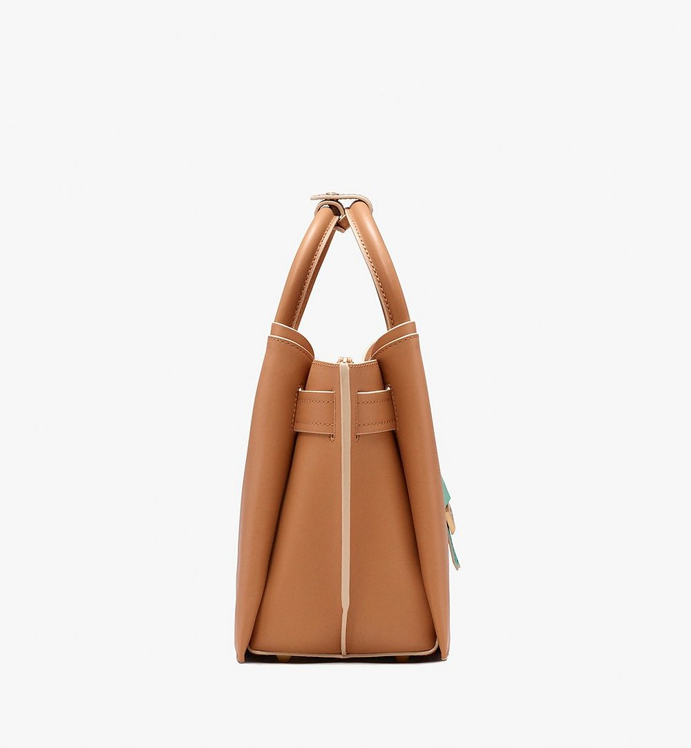 MCM Neo Milla Tote in Spanish Leather Beige MWT9AMA76BC001 Alternate View 2
