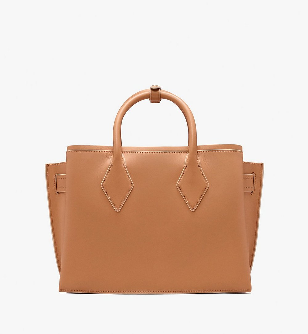 MCM Neo Milla Tote in Spanish Leather Beige MWT9AMA76BC001 Alternate View 3