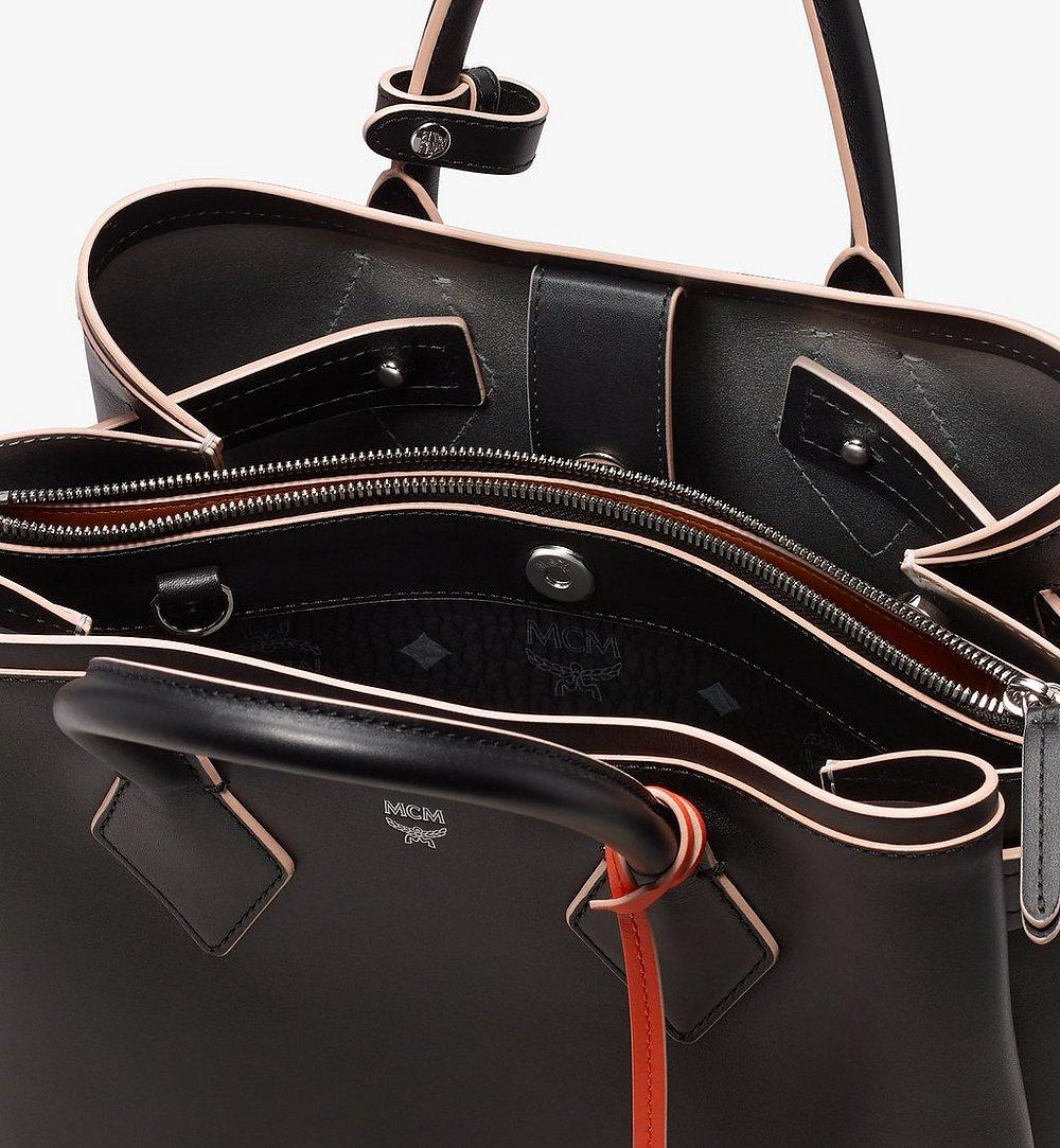 MCM Neo Milla Tote in Spanish Leather Black MWT9AMA76BK001 Alternate View 4