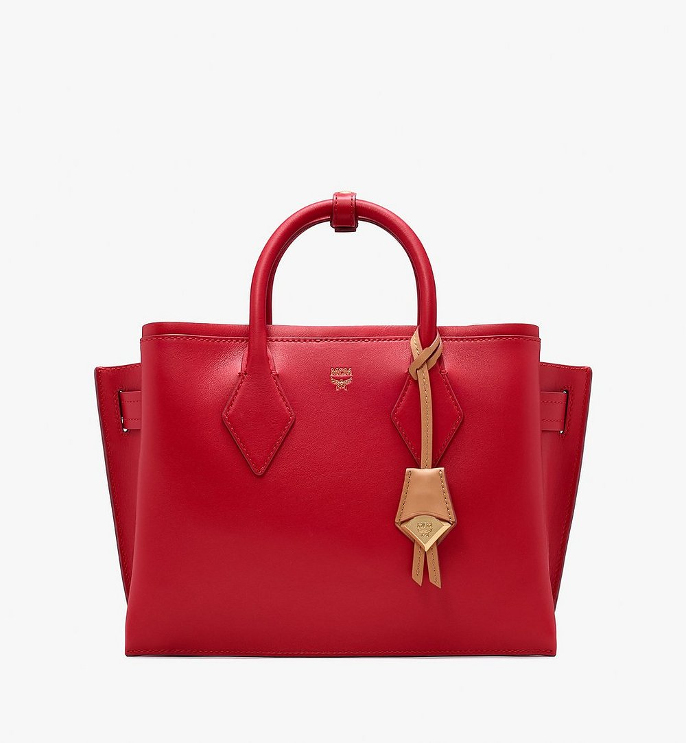 MCM Neo Milla Tote in Spanish Leather Red MWT9AMA76RU001 Alternate View 1