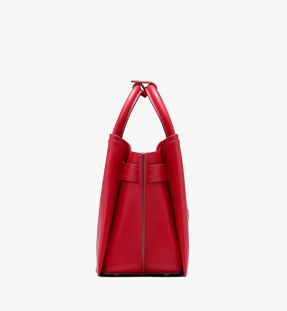 MCM Neo Milla Tote in Spanish Leather Red MWT9AMA76RU001 Alternate View 2