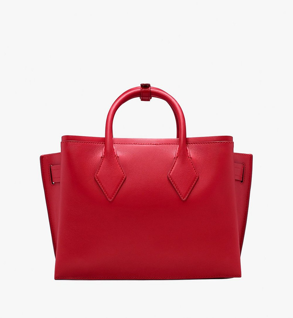 MCM Neo Milla Tote in Spanish Leather Red MWT9AMA76RU001 Alternate View 3