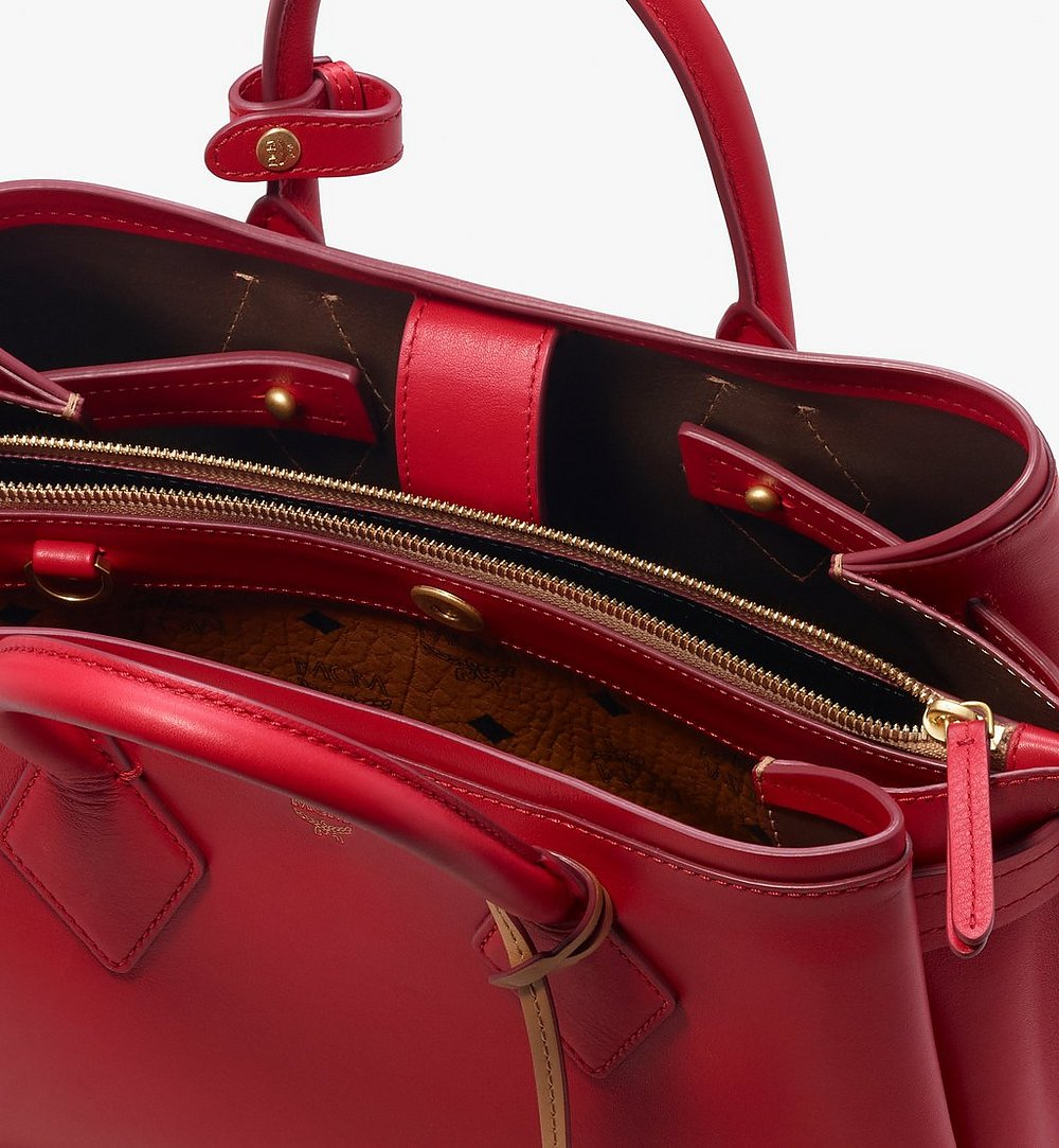 MCM Neo Milla Tote in Spanish Leather Red MWT9AMA76RU001 Alternate View 4