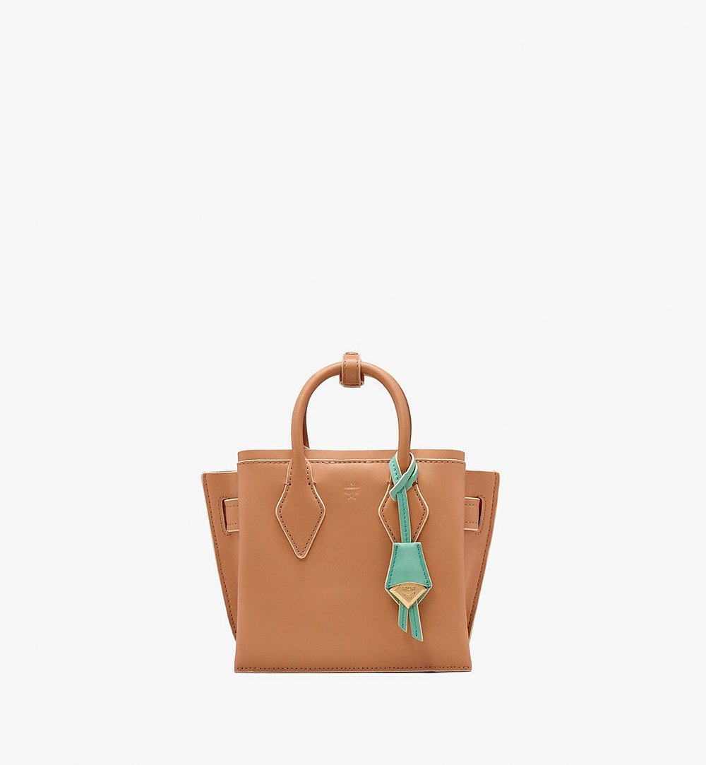 MCM Neo Milla Tote in Spanish Leather Beige MWT9AMA77BC001 Alternate View 1