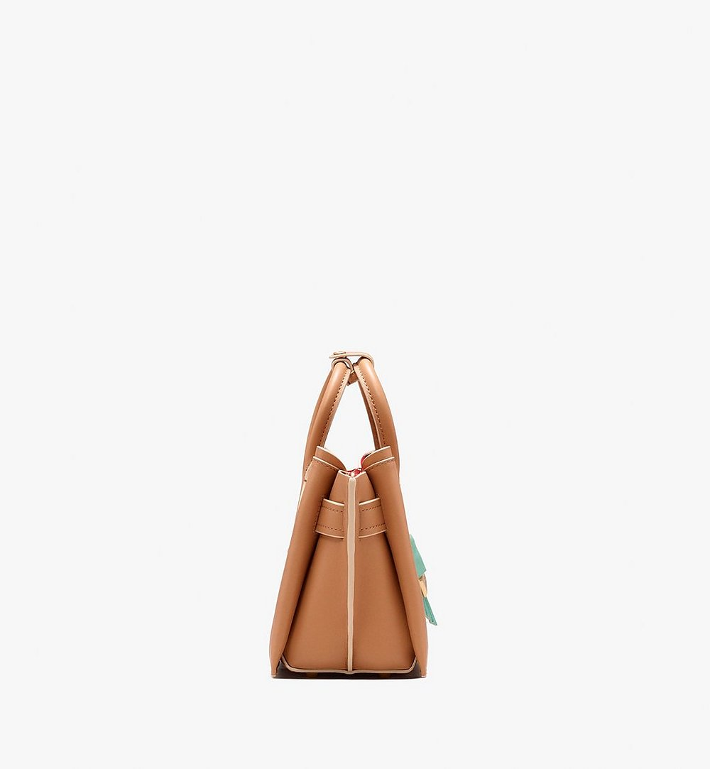 MCM Neo Milla Tote in Spanish Leather Beige MWT9AMA77BC001 Alternate View 2