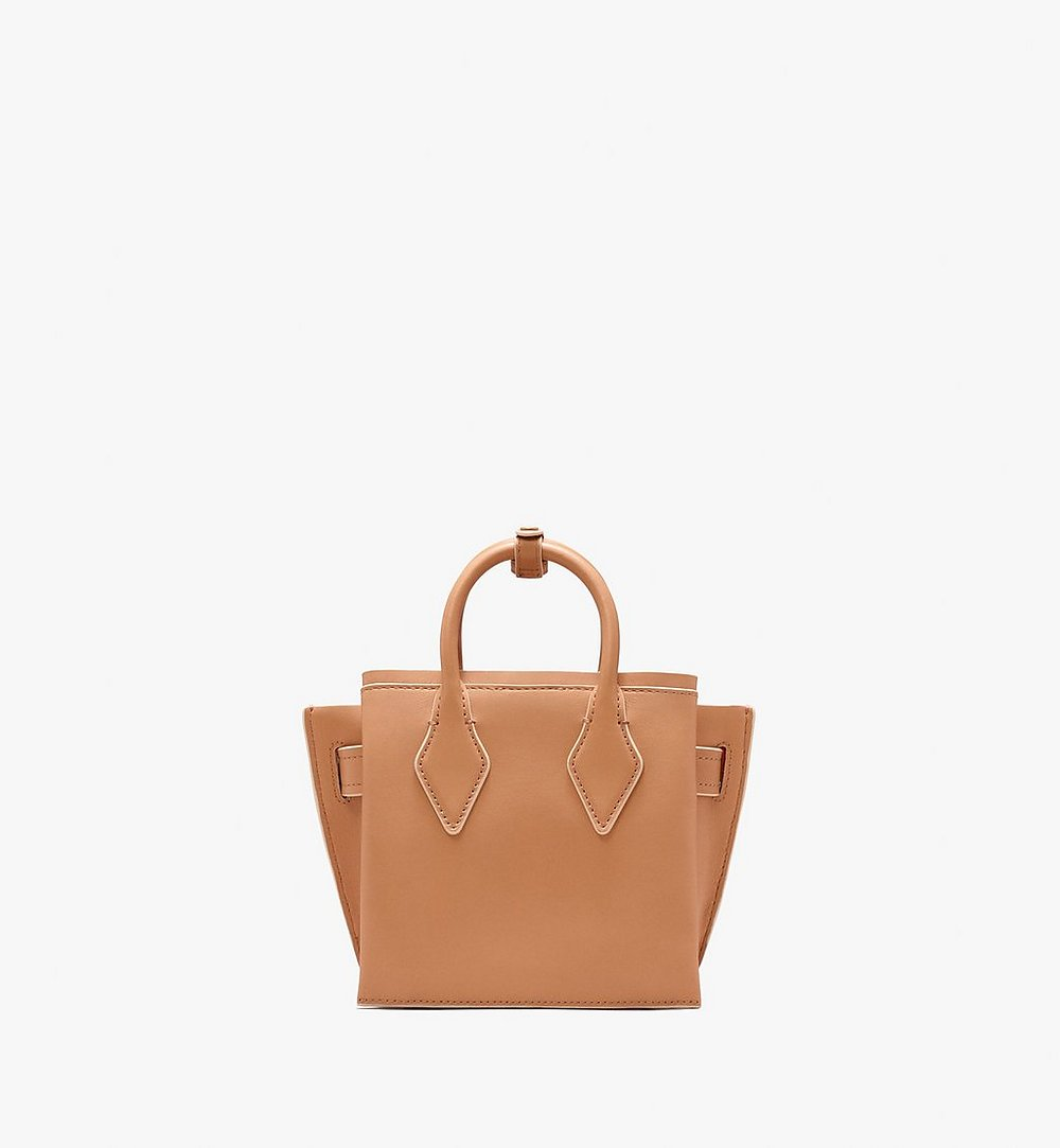 MCM Neo Milla Tote in Spanish Leather Beige MWT9AMA77BC001 Alternate View 3