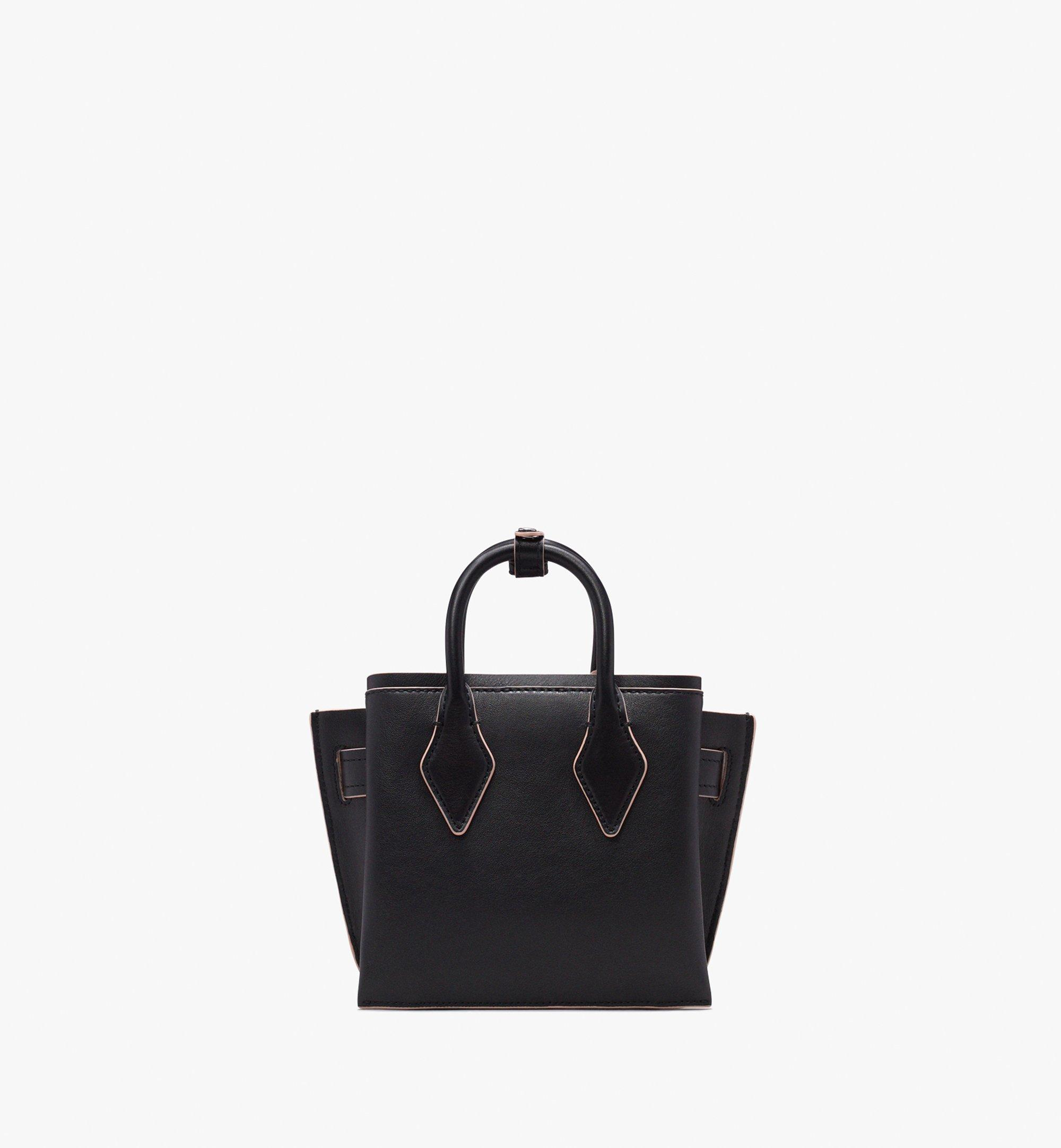 MCM Neo Milla Tote in Spanish Leather Black MWT9AMA77BK001 Alternate View 4
