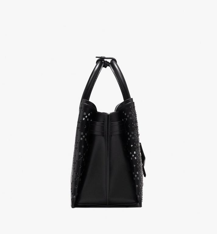 MCM Neo Milla Tote in Perforated Leather Black MWT9AMA86BK001 Alternate View 3