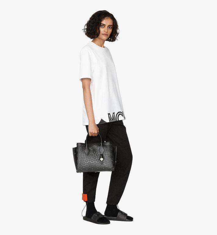 MCM Neo Milla Tote in Perforated Leather Alternate View 6