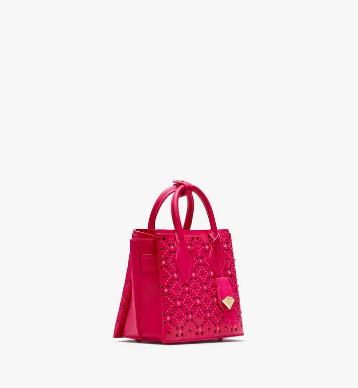 MCM Neo Milla Tote in Perforated Leather  MWT9AMA87QS001 Alternate View 2