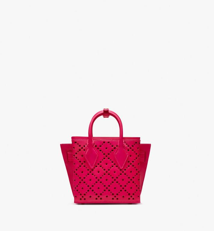 MCM Neo Milla Tote in Perforated Leather  MWT9AMA87QS001 Alternate View 4