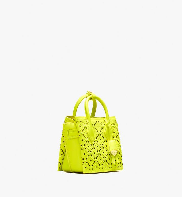 MCM Neo Milla Tote in Perforated Leather Yellow MWT9AMA87YN001 Alternate View 2