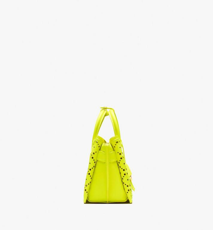 MCM Neo Milla Tote in Perforated Leather Yellow MWT9AMA87YN001 Alternate View 3