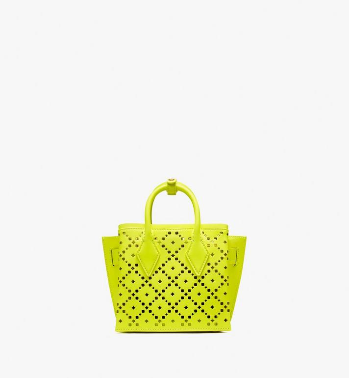 MCM Neo Milla Tote in Perforated Leather Yellow MWT9AMA87YN001 Alternate View 4