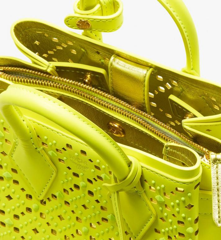 MCM Neo Milla Tote in Perforated Leather Yellow MWT9AMA87YN001 Alternate View 5